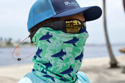 Teal Digital Camo BlacktipH Neck Scarf