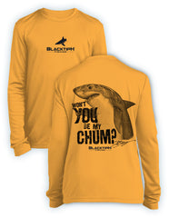 BlacktipH Youth Performance Long Sleeve Shark-Chum Featuring Steve Diossy Art