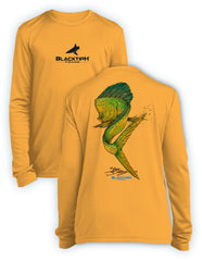 BlacktipH Youth Performance Long Sleeve Mahi-Mahi Featuring Steve Diossy Art