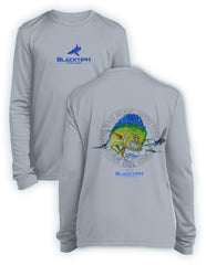 BlacktipH Youth Performance Long Sleeve Mad-Mahi Featuring Steve Diossy Art
