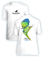 BlacktipH Youth Performance Short Sleeve Mahi Swim Featuring Steve Diossy Art