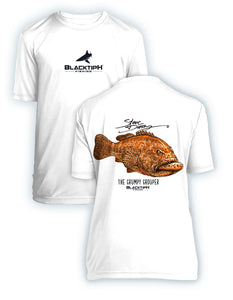 BlacktipH Youth Performance Short Sleeve Grumpy Grouper Featuring Steve Diossy Art