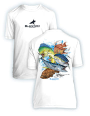BlacktipH Youth Performance Short Sleeve Grand Slam Featuring Steve Diossy Art