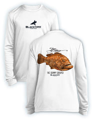 BlacktipH Youth Performance Long Sleeve Grumpy Grouper Featuring Steve Diossy Art