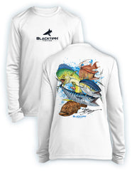 BlacktipH Youth Performance Long Sleeve Grand Slam Featuring Steve Diossy Art