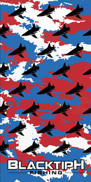 Red, White, Blue Camo BlacktipH Neck Scarf