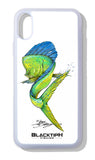 BlacktipH iPhone Case Mahi-Mahi Featuring Steve Diossy