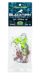 BlacktipH Classic Bundle Jig Heads with White Red and Chartreuse Options - Three Eighth Ounce