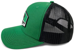 BlacktipH Green Hat with Rubber Patch showing Shark and Logo - Back View