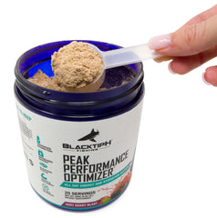 BlacktipH Peak Performance Optimizer with Energu Focus Hydration Recovery and Anti-Nausea Power - Scooper
