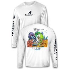 BlacktipH Performance Long Sleeve Fish N Chips Featuring Steve Diossy Art