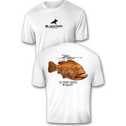 BlacktipH Performance Short Sleeve Grumpy Grouper Featuring Steve Diossy Art