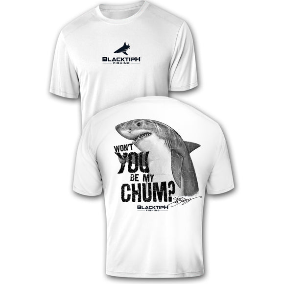 BlacktipH Performance Short Sleeve Shark-Chum Featuring Steve Diossy Art