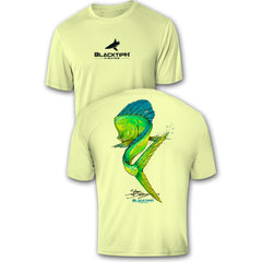 BlacktipH Performance Short Sleeve Mahi_Mahi Featuring Steve Diossy Art