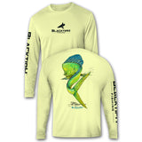 BlacktipH Performance Long Sleeve Mahi_Mahi Featuring Steve Diossy Art