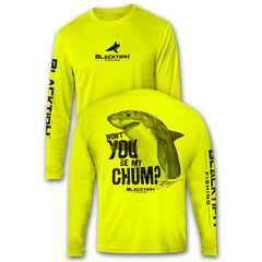 BlacktipH Performance Long Sleeve Shark-Chum Featuring Steve Diossy Art