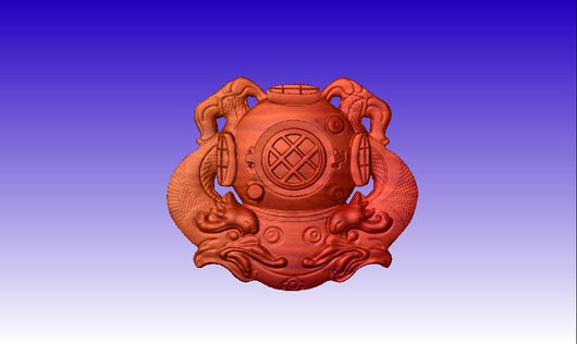 First Class Diver Insignia Vector Relief Model -  3D CNC Vector Art