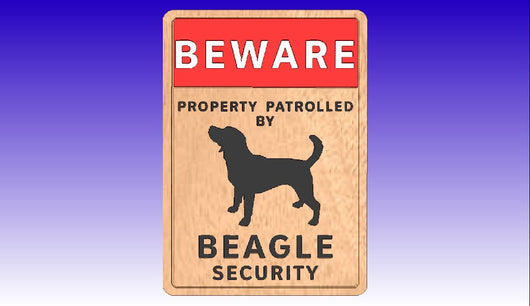 Beagle Security Vector Art Sign Package -  3D CNC Vector Art