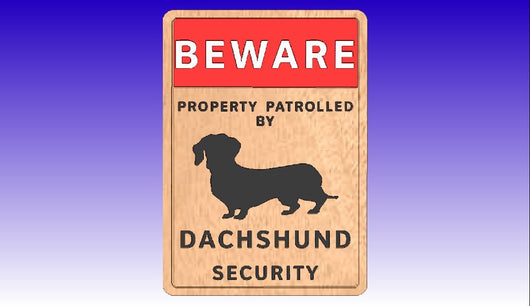 Dachshund Security Vector Art Sign -  3D CNC Vector Art