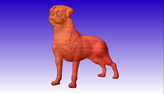 Rottweiler Dog Vector Relief Model 3D Clipart -  3D CNC Vector Art