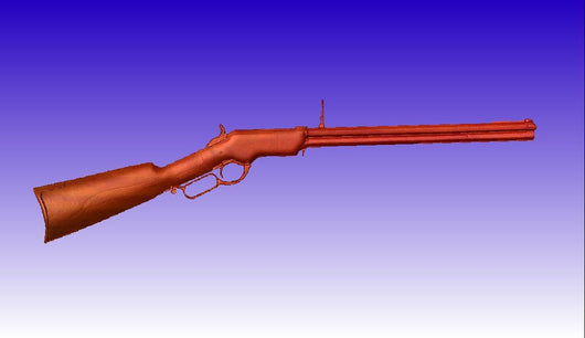 Old Henry Rifle Vector Art Relief Model -  3D CNC Vector Art