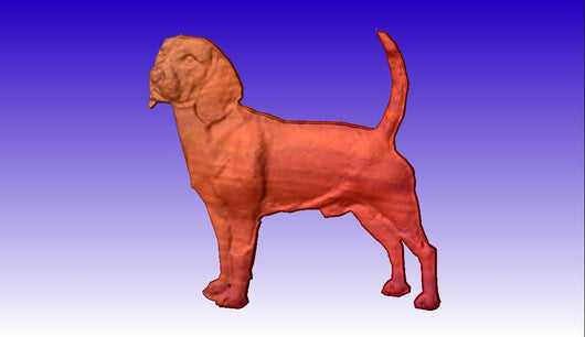 Beagle Vector Relief Model 3D Clipart -  3D CNC Vector Art