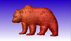 Bear CNC Relief Model -  3D CNC Vector Art