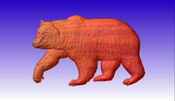 Bear No 2 CNC Relief Model -  3D CNC Vector Art