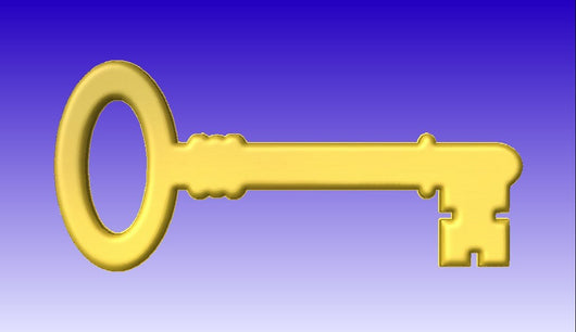 Skeleton Key Vector Relief Model -  3D CNC Vector Art