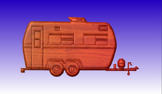 Camper CNC Vector Relief Model -  3D CNC Vector Art