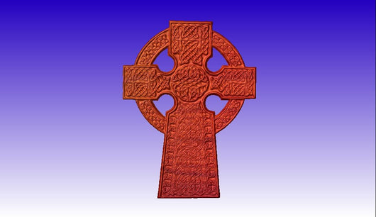 Celtic Cross 3D Vector Art -  3D CNC Vector Art