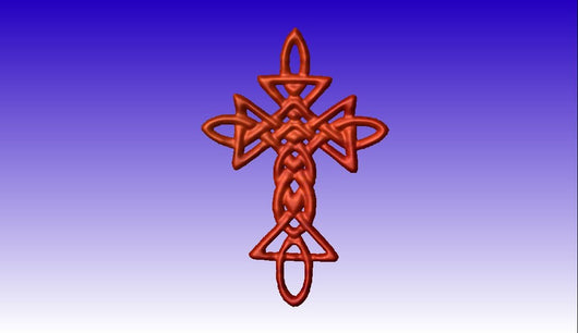Celtic Cross 2 Vector Art Model -  3D CNC Vector Art