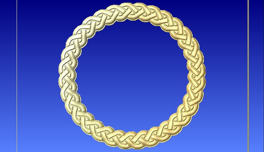Celtic Style Rope 3d Vector Model -  3D CNC Vector Art