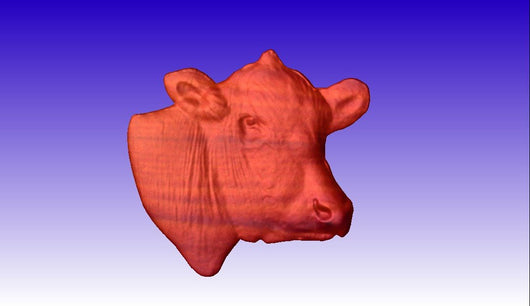 Cow Head CNC Vector Model