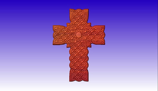 Decorative Cross 3D Vector Art -  3D CNC Vector Art