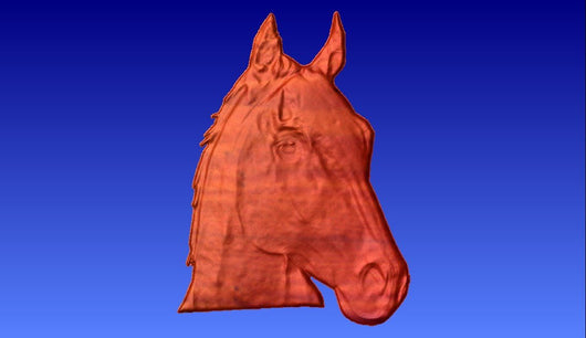 Horse Head 3 Vector Relief Model -  3D CNC Vector Art