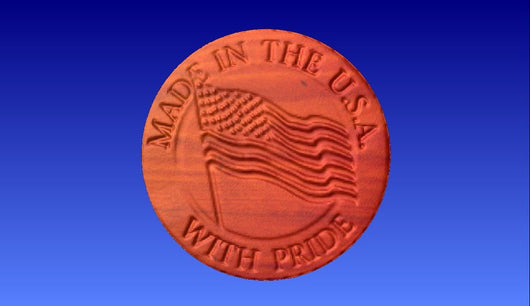 Made in USA Vector Relief Model -  3D CNC Vector Art