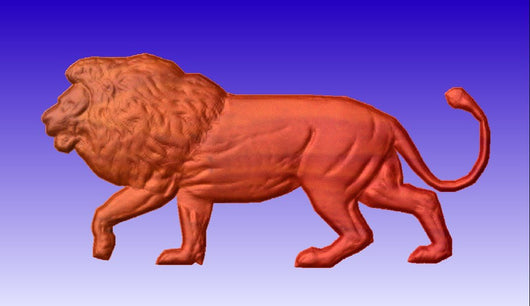 Lion Vector Relief Model -  3D CNC Vector Art