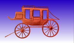 Stagecoach 3D Vector Model -  3D CNC Vector Art