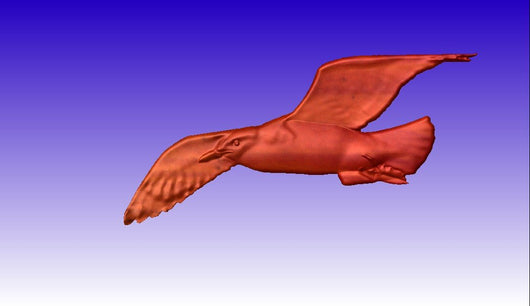 Seagull Vector Relief Model -  3D CNC Vector Art