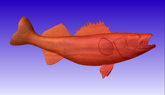 Walleye Vector Relief Model -  3D CNC Vector Art