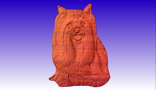 Yorkie Vector Relief Model 3D Clipart -  3D CNC Vector Art