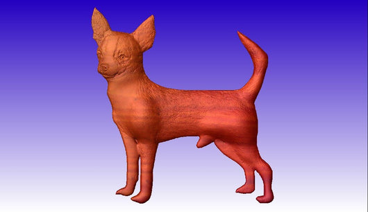 Chihuahua Dog Vector Relief Model 3D Clipart -  3D CNC Vector Art