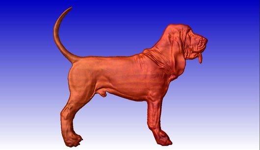 Bloodhound 2 CNC Relief Model -  3D CNC Vector Art