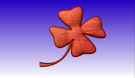 4 Leaf Clover CNC Relief STL Model -  3D CNC Vector Art