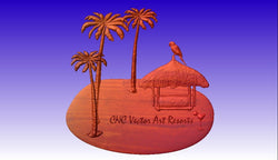 Tropical Theme Sign Package-Save money on the whole package! -  3D CNC Vector Art