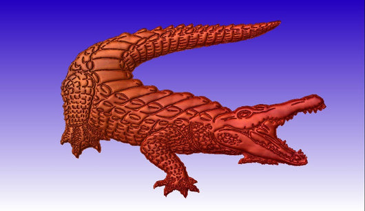 Alligator No.2 Vector Relief Art -  3D CNC Vector Art
