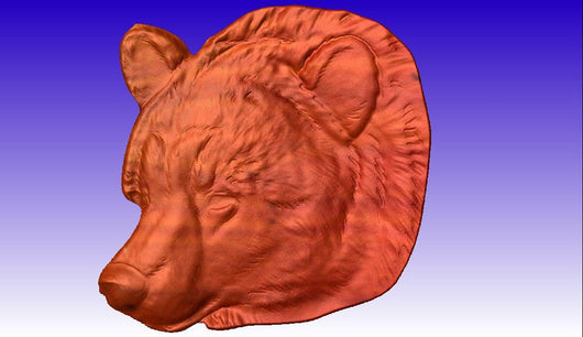 Bear Head CNC Relief Model -  3D CNC Vector Art
