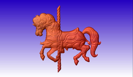 Carousel Horse CNC Relief Model -  3D CNC Vector Art