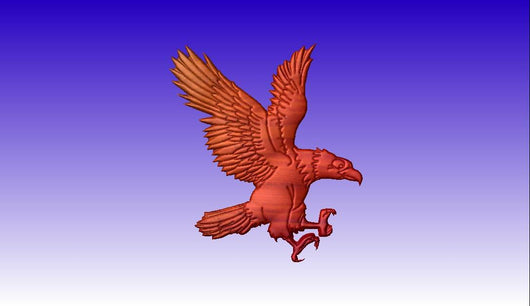 Eagle No. 2 Vector Relief Model -  3D CNC Vector Art